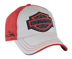 Harley Davidson Women's Tribal Bar Shield Baseball Cap White Pink BC05107 | eBay
