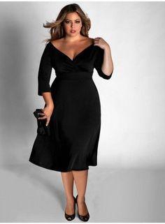 2425ca3f1282 Malé černé šaty FRANCESCA od Igigi pro plnoštíhlé Šaty Nadměrné Velikosti