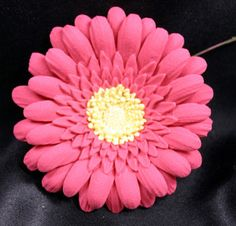 Gerber Daisy Gum Paste Flowers Pink on A wire