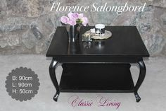 Sort Florence salongbord (90x90 cm).  Se http://ift.tt/1UdJ1or for mer info  #classicliving #classyinterior #interiør #salongbord #coffeetable #livingroom