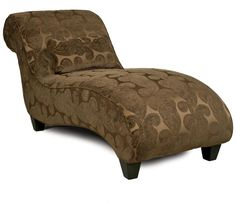Home Gallery Furniture Curved Chaise with Matching Kidney Pillow