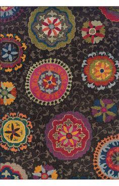 Oriental Weavers Kaleidoscope 1333N Charcoal Rug   Country & Floral Rugs #RugsUSA