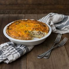 Leek, Mushroom and Bacon Quiche | Frontier Co-op