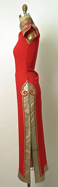 Ensemble Date: 1930s Culture: Chinese Medium: silk, metal Dimensions: Length (a): 54 in. (137.2 cm) Length (b): 37 1/2 in. (95.3 cm) Length (c): 13 in. (33 cm) Credit Line: Gift of Sven E. Hsia, 1980