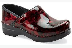 NEW PRINT! Dansko 'Professional' in Red Leaf Patent