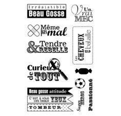 Tampons transparents 'Artemio' Beau Gosse 9x14 cm