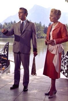 Captain Von Trapp and Baroness Elsa Schrader, Red Suit Costume The Sound of Music