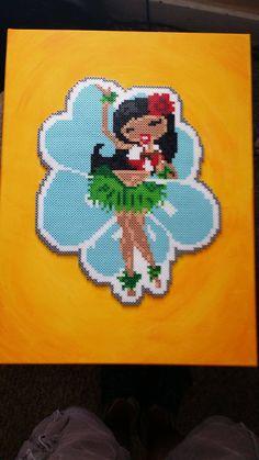 Hula Girl - Perler Beads