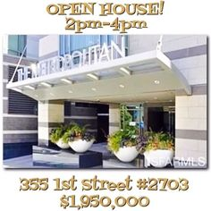 Today! 2pm-4pm! Join me for some sexy luxury living up in the clouds, the 27th floor to be exact! . 360° views, 2 bedrooms, 2 bathrooms, 2 parking spots and amenities galore in San Francisco's South Beach. Not bad, right? . #SouthBeach #Luxury #Condo #Amenities #TheMetropolitan #ForSale #OpenHouse #SF #SanFrancisco #Realtor #RealEstate #ColdwellBanker