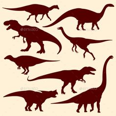 Buy Dinosaurs Silhouettes by MicrovOne on GraphicRiver. Set of dinosaur prehistoric, illustration of ancient wild dinosaur Dinosaur Silhouette, Animal Silhouette, Silhouette Vector, Silhouette Cameo, Arrow Drawing, Line Drawing, Hand Drawn Arrows, Dinosaur Drawing, Cute Dragons