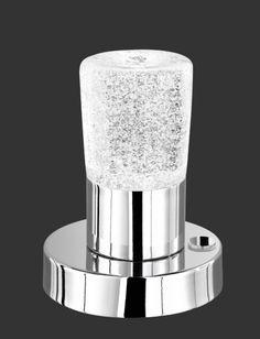 5296 - TRIO - dotyková LED lampa - 150mm - chróm+krištáľ