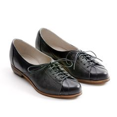 women Oxford shoes flat black shoes by MYKAshop on Etsy,
