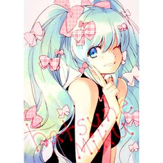 /Hatsune Miku/#747846 - Zerochan ❤ liked on Polyvore featuring anime and vocaloid