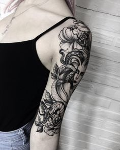 "2,900 Likes, 11 Comments - Dmitriy Tkach (@dmitriy.tkach) on Instagram: ""One more view of Anna's tattoo sleeve!  Спасибо @anny_bobrova_ !…"""