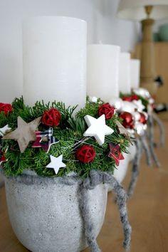 45 Christmas Home Decoration İdeas - Deria's Choices Advent Candles, Christmas Candles, Winter Christmas, Christmas Home, Christmas Wreaths, Christmas Crafts, Christmas Decorations, Xmas, Holiday Decor