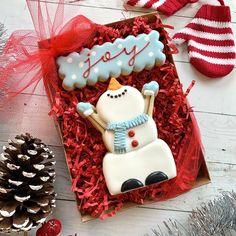 Kelly's Cookies ( Kawaii Cookies, Christmas Cookies Gift, Snowman Cookies, Homemade Sweets, Cookie Icing, Cookie Gifts, Cookie Decorating, Cookie Recipes, Decorated Cookies