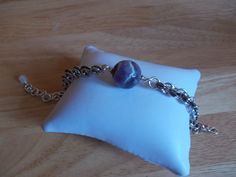 Dogs tooth amethyst and chainmaille bracelet £10.00