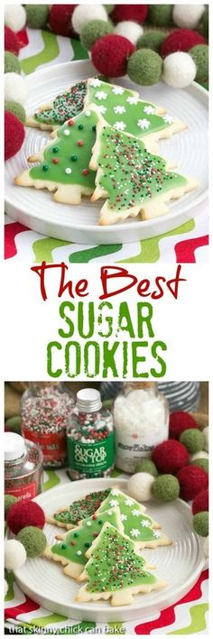 Best Sugar Cookies | Perfect cut-out cookies for all holidays and celebrations #sugarcookies #holidaycookies #CookieRecipe