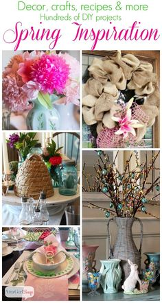 Atta Girl Says | Spring Home Decorating Ideas Mega Link Party | http://www.attagirlsays.com