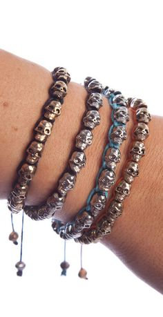Very cool!!!! Style and Candy loves these skull beaded bracelets! Easy to adjust. Collect them all!