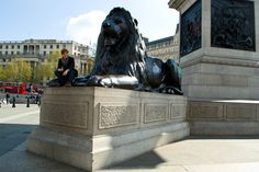 Oh my God! i was seating on a lion leg!