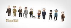 #Kingsman The characters. 全員描いてみたw