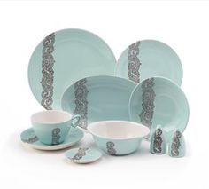 Crown Lynn Potteries Ltd for Air New Zealand I love this series, and used to collect it, but have now been priced out of the market! 2017 Decor, Long White Cloud, Kitchenware, Tableware, Air New Zealand, Vintage China, Fine Dining, Teal, Turquoise
