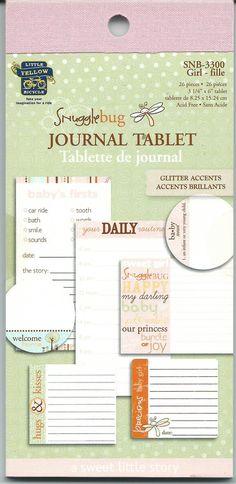 Snugglebug Journal Tablet    Girl    NEW   by CynthiasCraftingNook