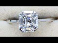 Asscher Cut Diamond Ring, Weldon Jewellers of Dublin #Engagmentrings #Diamonds #Dublin