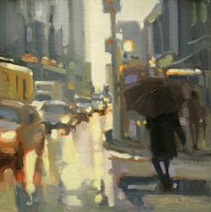 http://www.gibsonfineart.ca Sarah  Kidner Getting Out - study