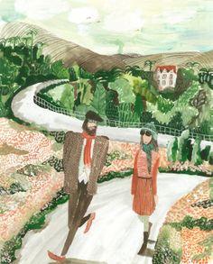 'Leaving Secret Garden'  Kirsten Sims  kirstensims.blogspot.com