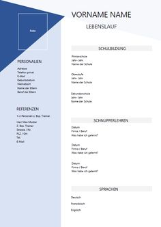 Lebenslauf Lehrstelle Vorlage Senior Secondary School, Creative Resume, Education, Templates