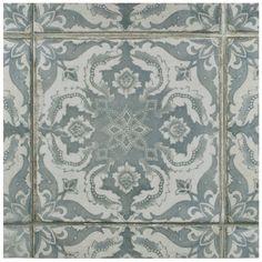 """EliteTile Royalty 17.75"""" x 17.75"""" Ceramic Field Tile in…"""