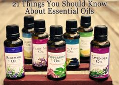 21 Things about Essential Oils.   REALLY REALLY good! Must read!