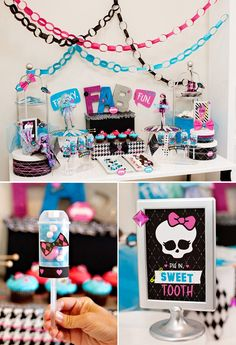 Monster High Party Ideas – Part 2: Freaky Fab Fun Dessert Table (+ MH Sweepstakes!)