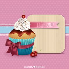Delicious cupcake Free Vector