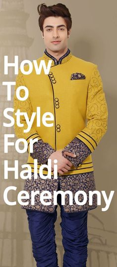 No efforts are put in by men to get the perfect look for haldi ceremony. So, here we have some outfit ideas for men. Indian Men Fashion, Mens Fashion, Haldi Ceremony, Indian Man, Suits, Wedding Dresses, T Shirt, Style, Moda Masculina
