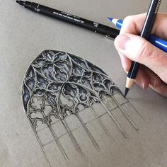 Intricate Architecture Drawings Capture the Beauty of Gothic Buildings Across Europe (My Modern Met) Gothic Architecture Drawing, Texture Architecture, Architecture Artists, Architecture Sketches, Classical Architecture, Sketchbook Drawings, Pencil Drawings, Art Drawings, Sketching