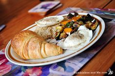 Poached Eggs over Brown Rice & Roasted Veggies