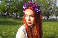 Pekný fialový venček by 001cherie - SAShE.sk - Handmade Čelenky
