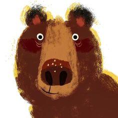 Like 647 times, 8 comments - Anna Chernyshova (Cheryl Long-Herbert. Art And Illustration, Illustration Animals, Kindergarten Art Projects, Animal Art Projects, Affinity Designer, Kids Poster, Bear Art, Jouer, Elementary Art