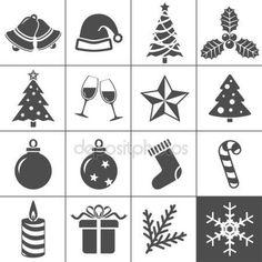 Kerst iconen set - simplus serie — Stockillustratie #14352493