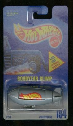 Hot Wheels 1991-194 Goodyear Blimp Blue Card 1:64 Scale by Mattel. $11.65. Scale 1:64. Hot Wheels collectible car year 1991.