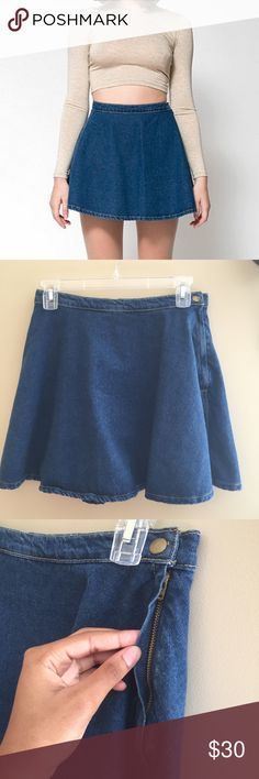 American Apparel denim circle skirt AA Blue denim circle skirt. I bought it a few years ago but I haven't worn it even once. Perfect condition American Apparel Skirts Circle & Skater