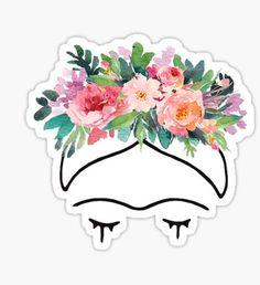 Frida Kahlo Flowers Pegatina