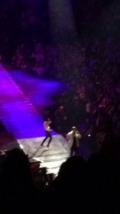 Justin dancing near my side of the Garden. I really did have horrible seats. Never again!!