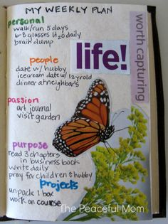 Get Organized! Simplify your life with a Weekly Plan. See my Weekly (Capturing Life) Plan 9-16-13 and use my FREE customizable planner to create your own! --The Peaceful Mom