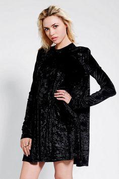 Bitching & Junkfood Algardi Velvet Swing Dress - Urban Outfitters