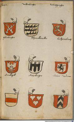 Wappen besonders von deutschen Geschlechtern Süddeutschland ?, 1475 - 1560 Cod.icon. 309  Folio 56r