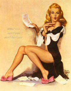 Marilyn Monroe pin up by Earl Moran  //  BIG FILE *****